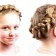 Как плести косу вокруг головы девочке?