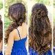 Красивые прически на очень длинные волосы