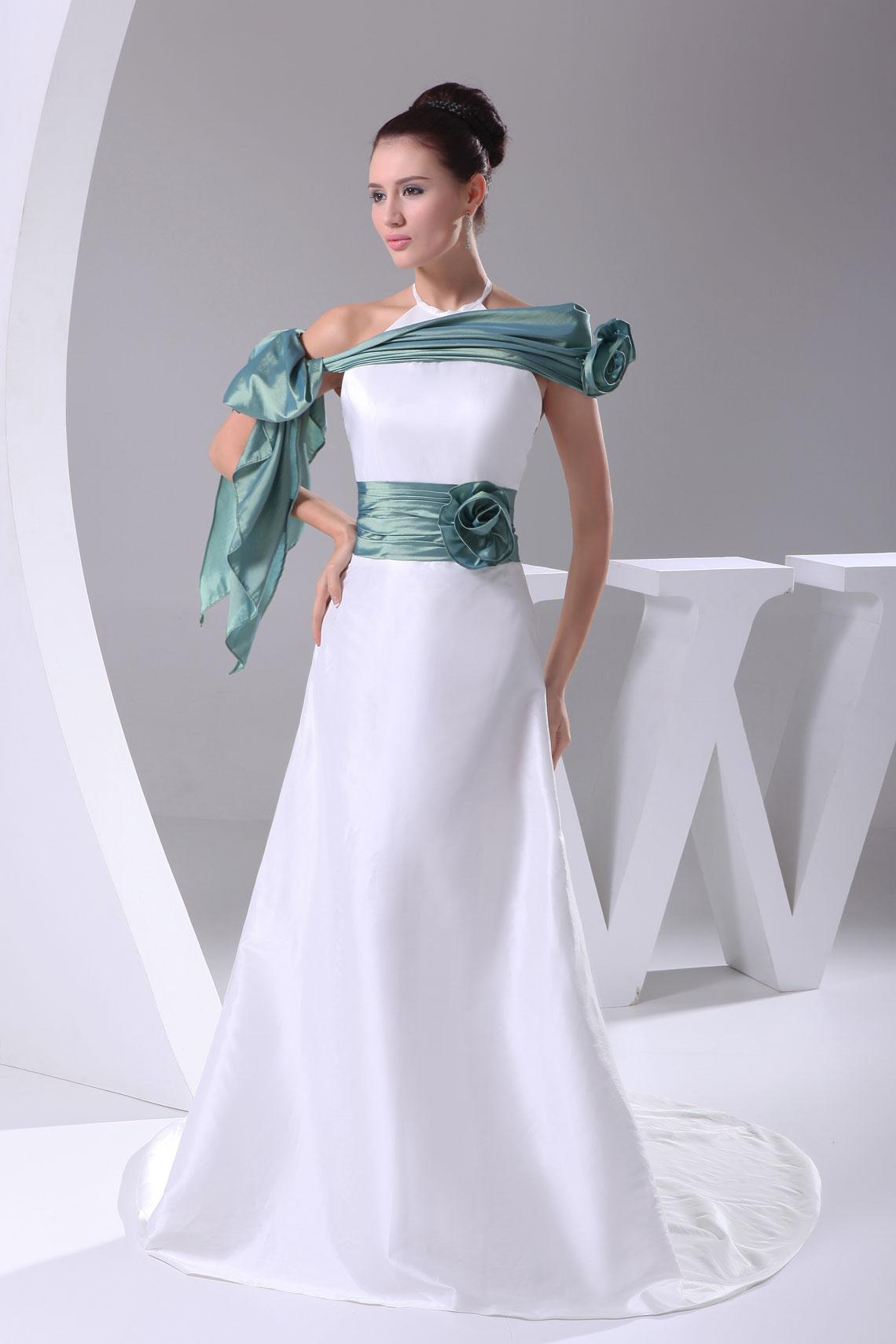 Свадебные платья бело-бирюзовое