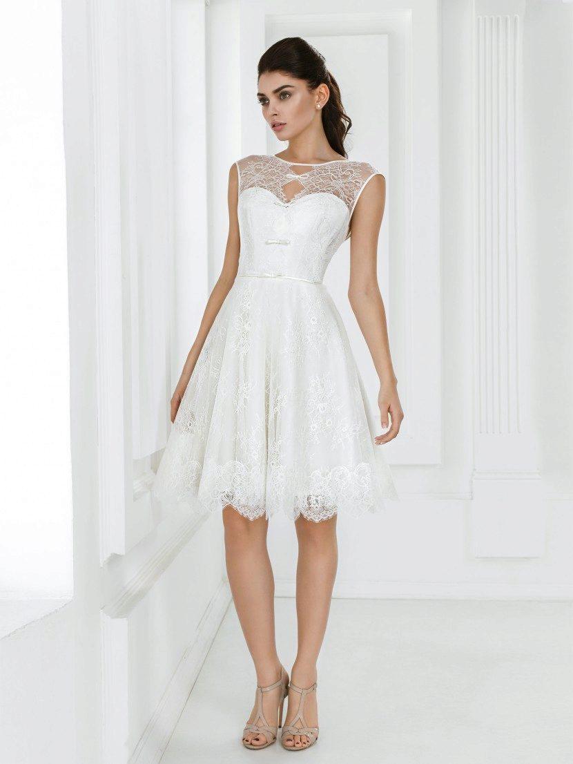 Свадебное платье короткое простое