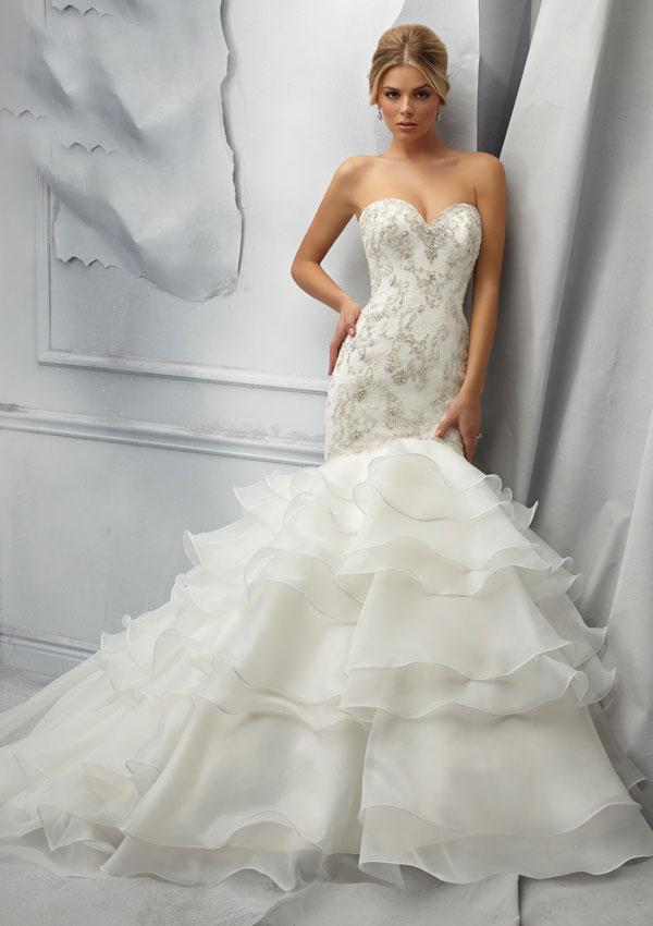 Свадебные платья русалки