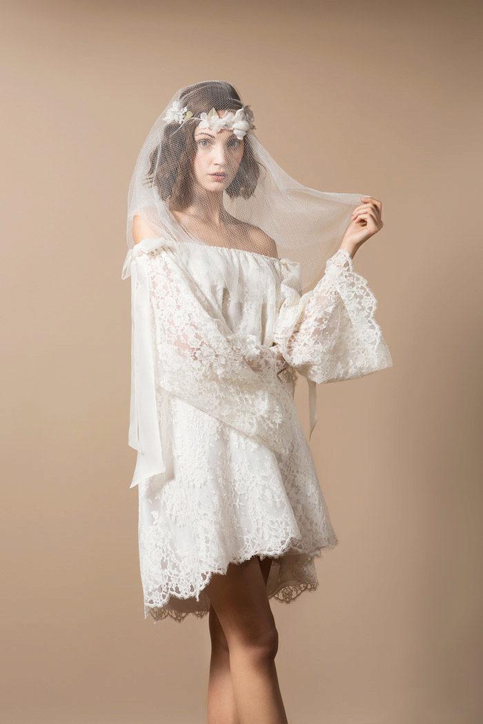 Платье короткое летящее