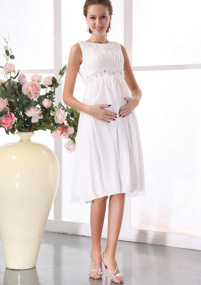 Платье для беременных свадебное короткое