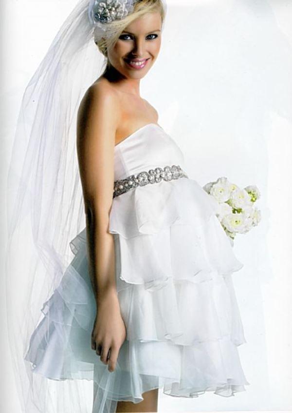Купить свадебное платье короткое для беременных