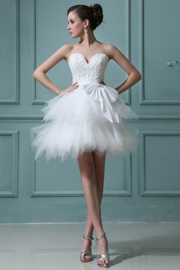 Свадебные платья короткая юбка