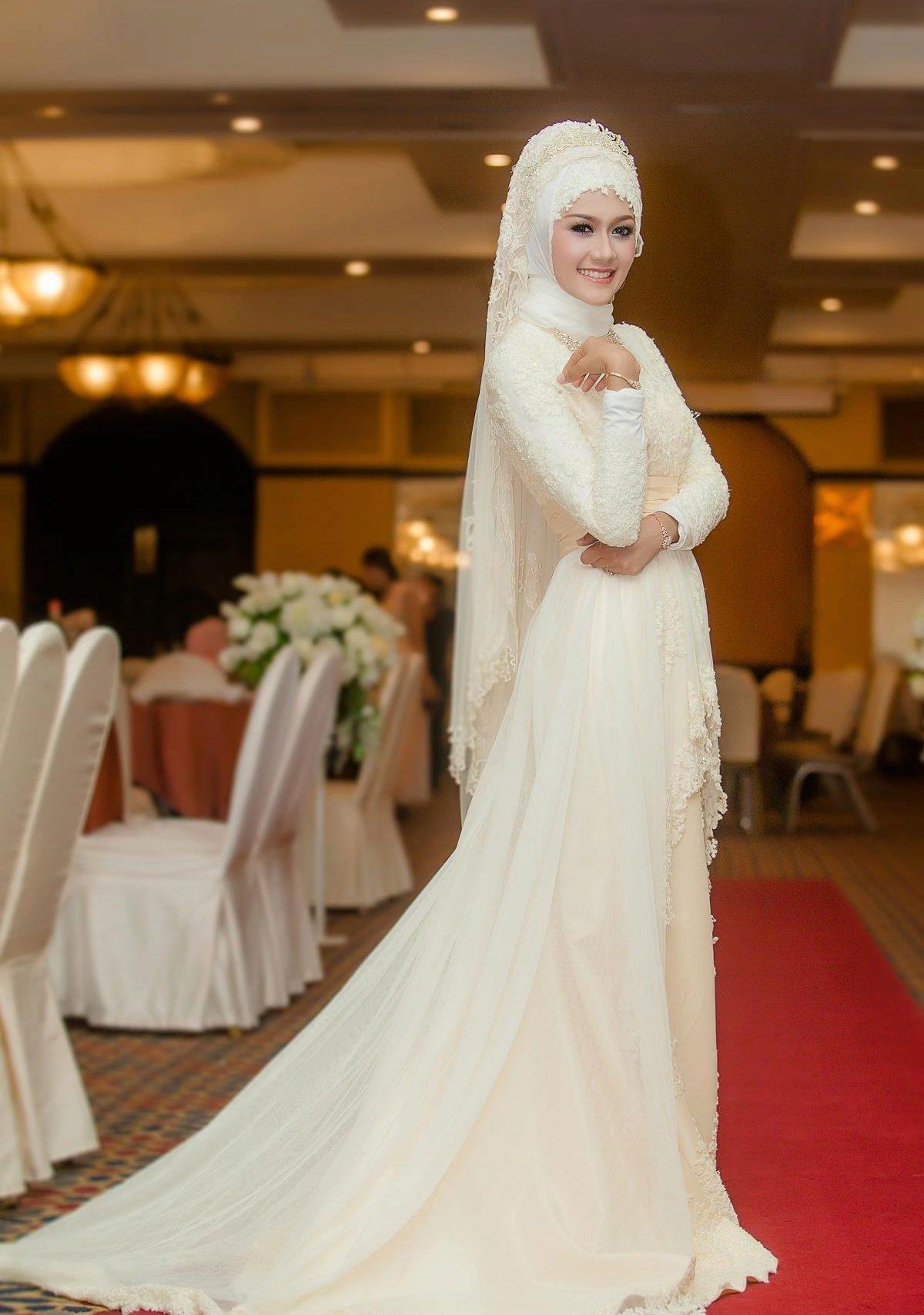 d2f47c5c1ceb964 Мусульманские свадебные платья: выбор платья для невесты мусульманки ...