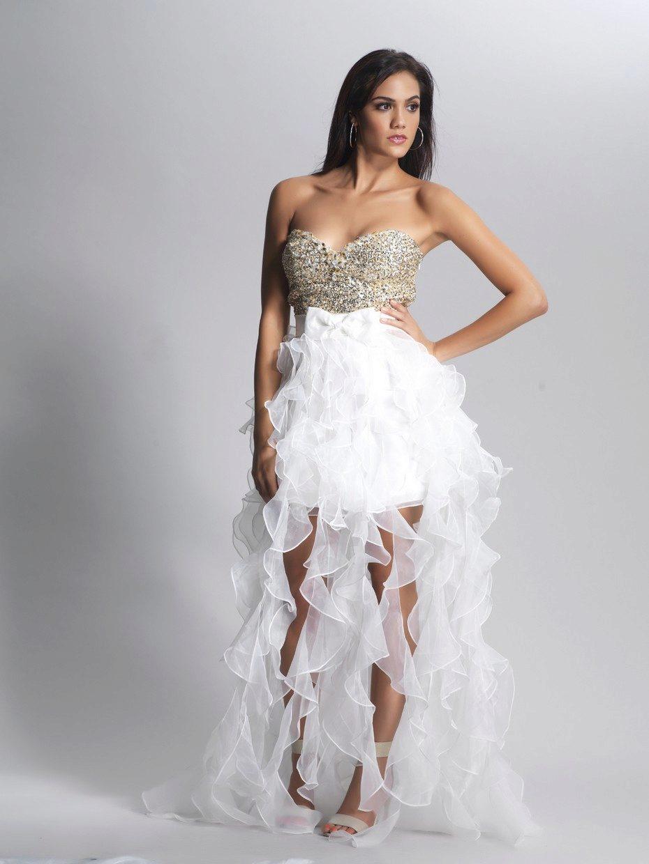 Платья спереди короткие