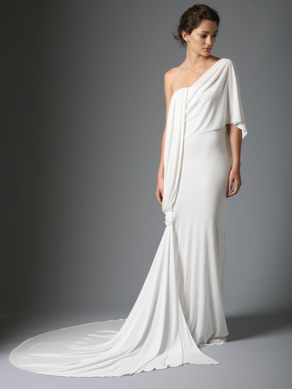 Рукава платьев свадебных на одно плечо