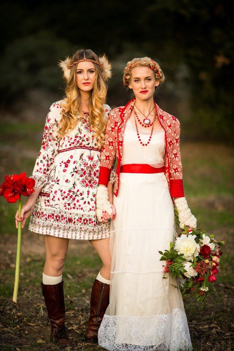 Свадебное платье в русском народном стиле: особенности славянских