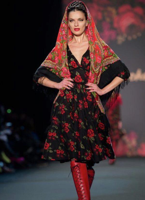 Фольклорный стиль одежды женщин
