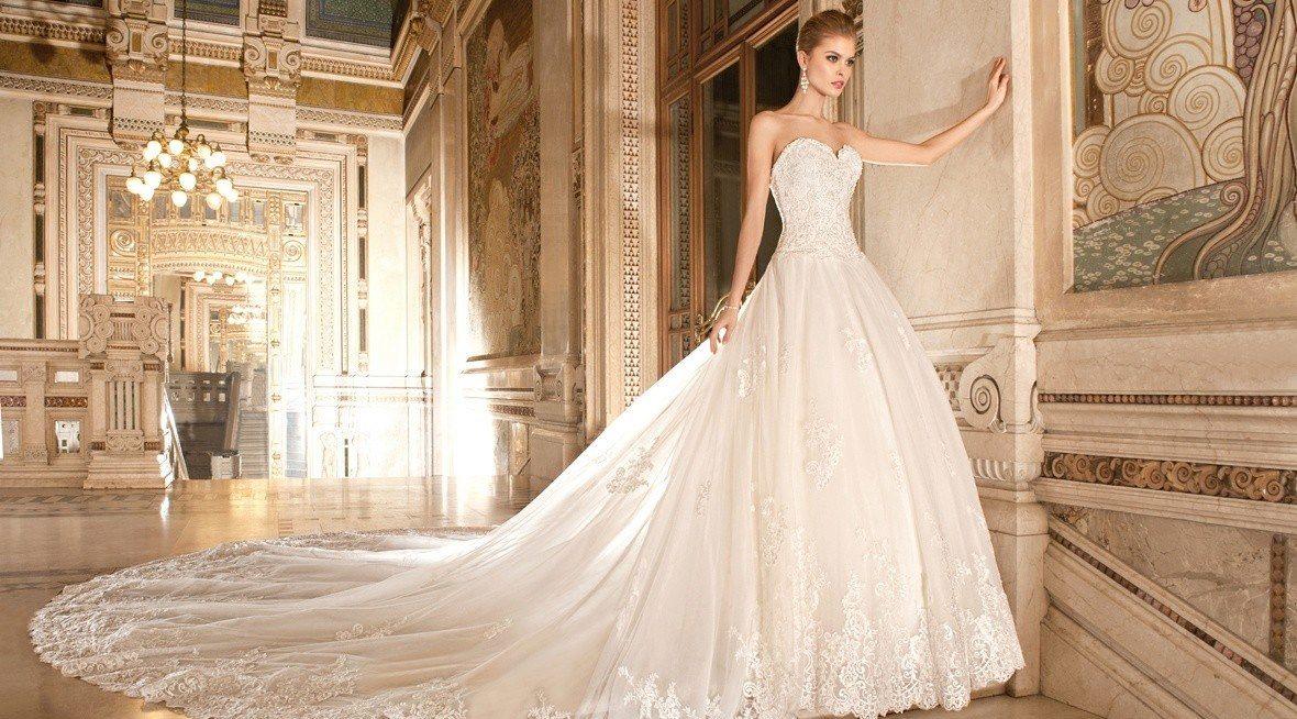 Свадебное пышное платье со шлейфом: особенности и правила выбора