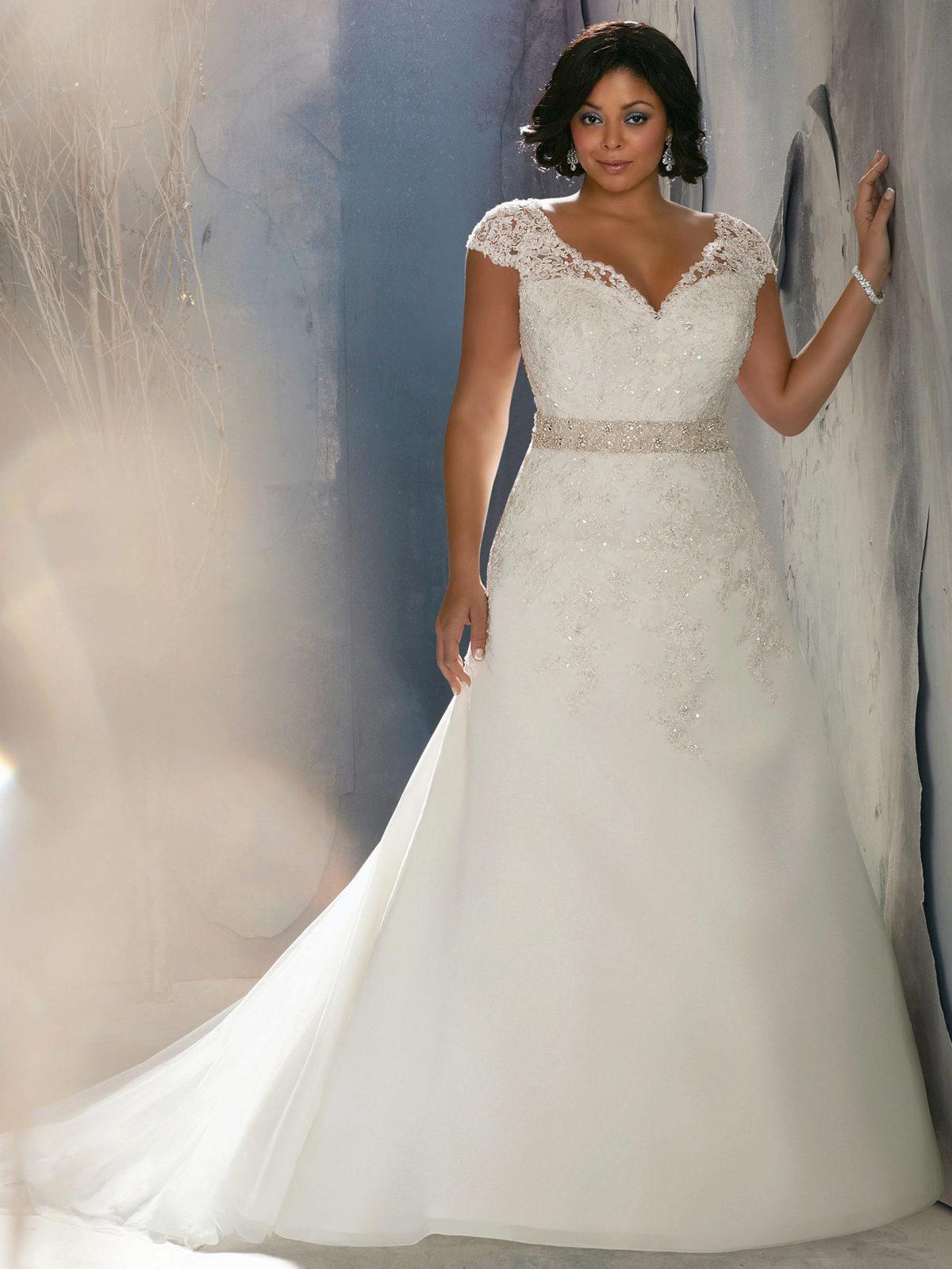 Свадебные платья на полных фото