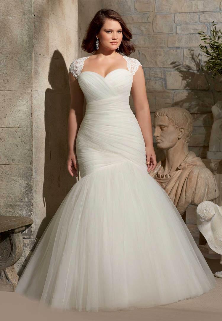Свадебные наряды для женщин полных