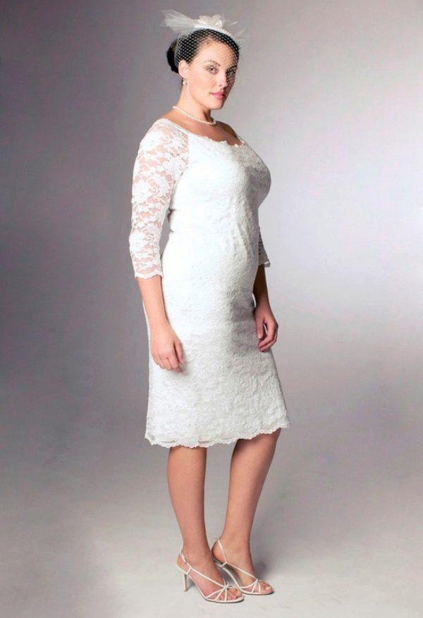 Купить платье-футляр свадебное