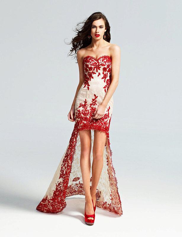 Фото платья красные короткие