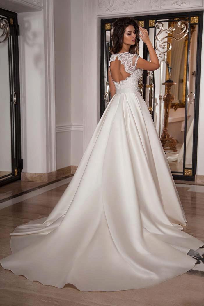 36157403161771f Свадебные платья с закрытым верхом: с кружевом, закрытым декольте ...