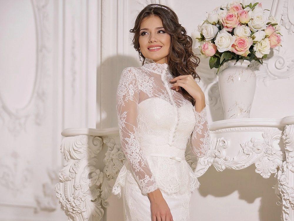 Болеро накидки к свадебному платью