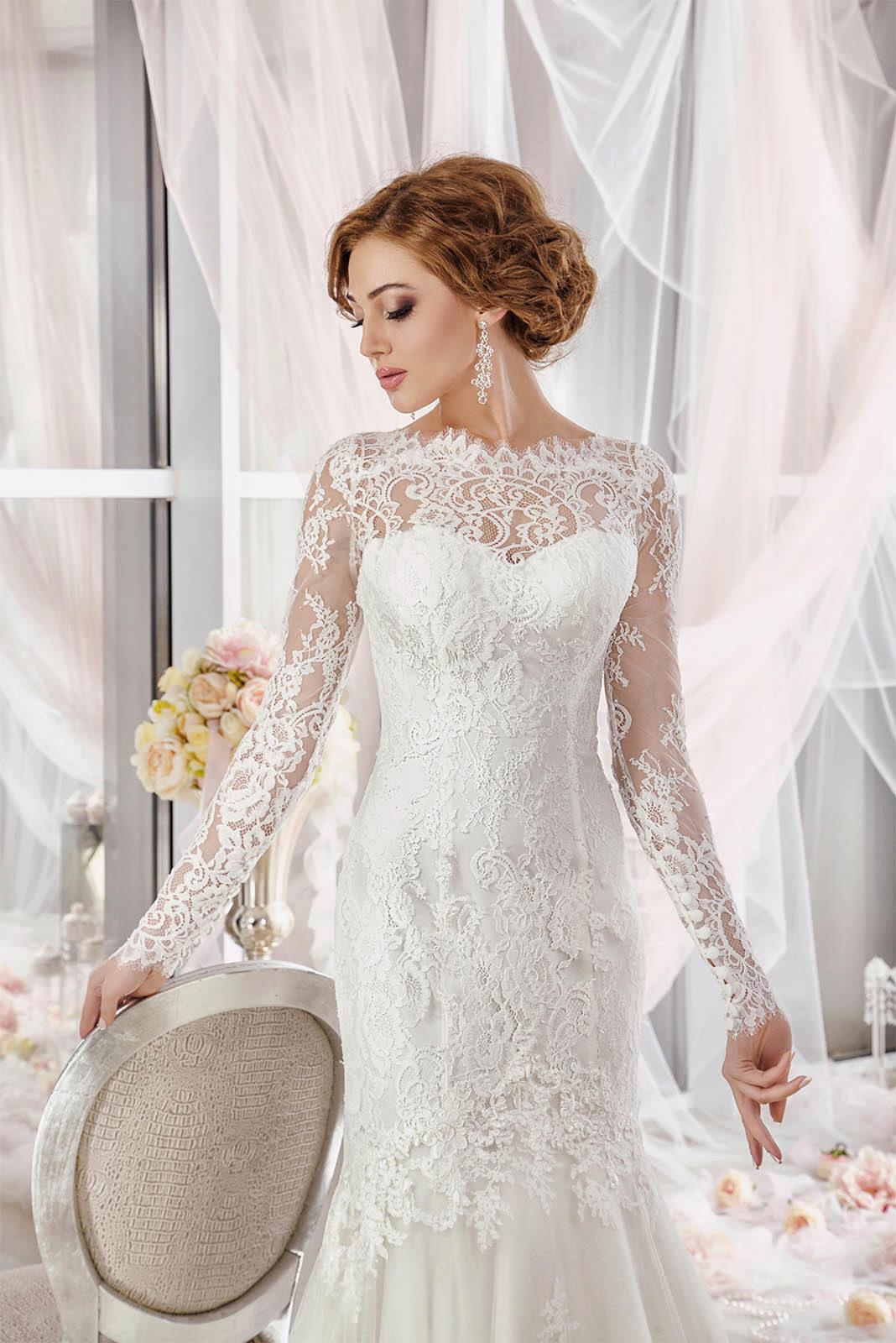 e8856b25da8 Закрытые свадебные платья  с закрытыми плечами