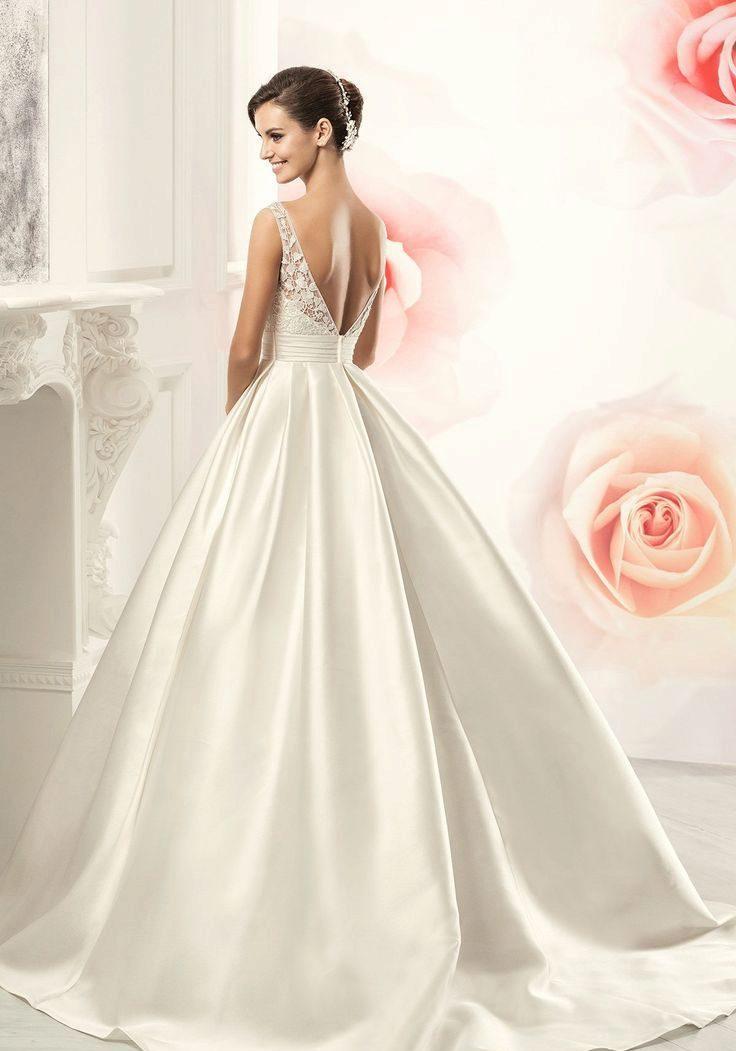 Свадебные платья а силуэт атласное