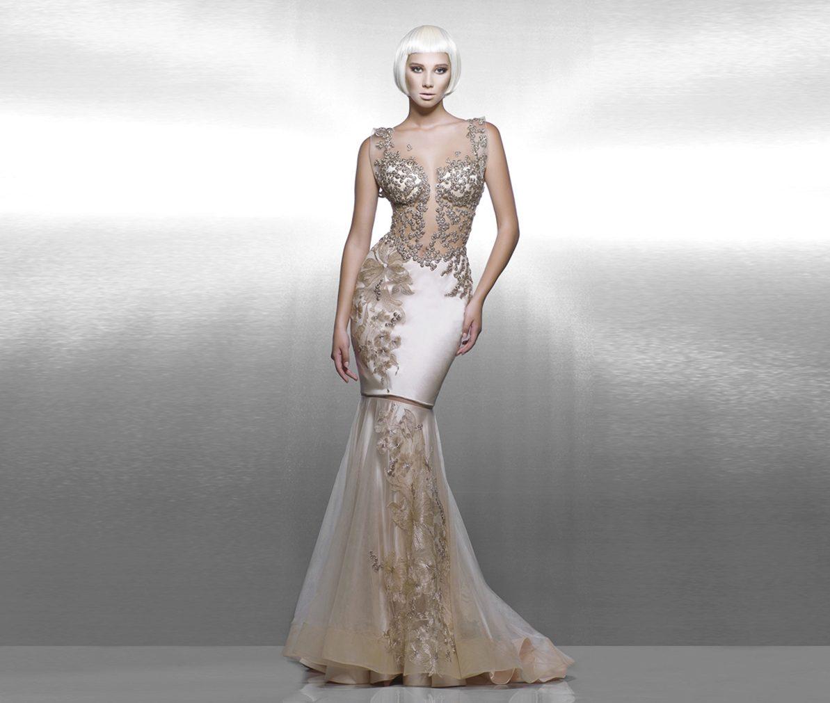 fd8b52316ee Вечернее платье бежевое от Saiid Kobeisy в стиле нюд