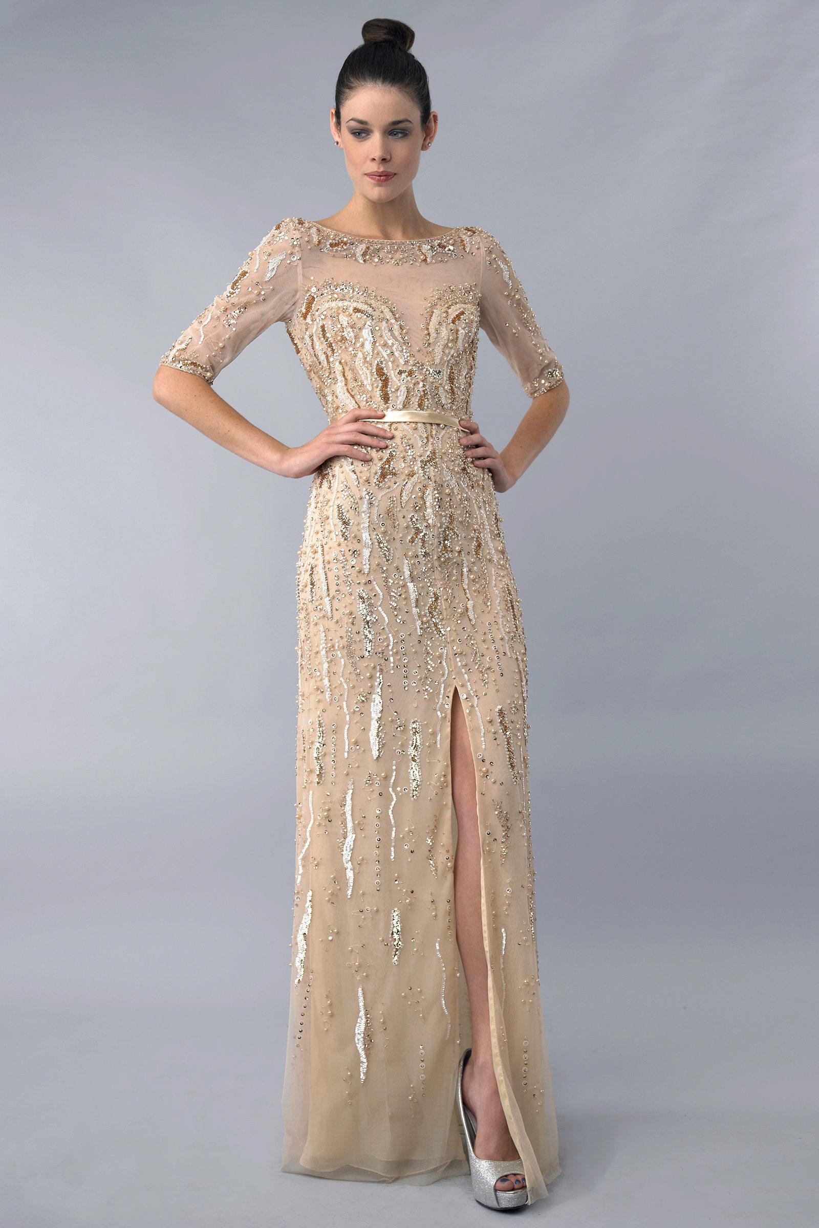 e6d496029e1 Вечернее платье с эффектом обнаженного тела