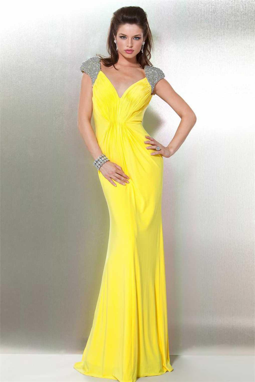 Вечерние желтые платья купить