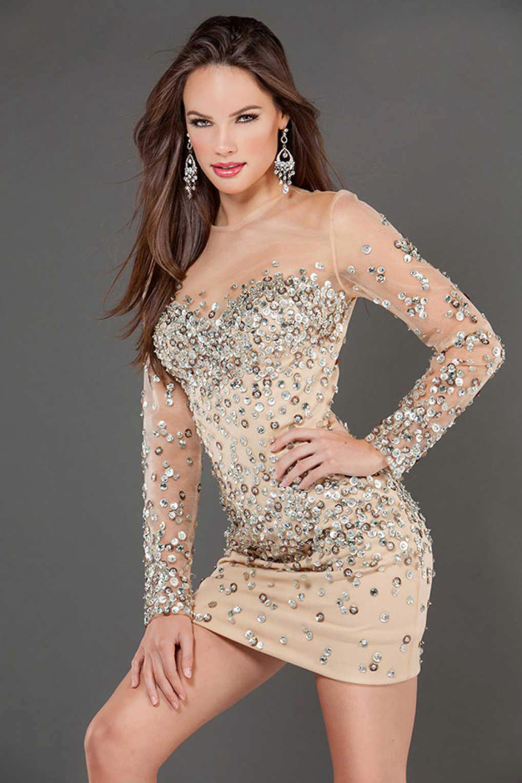 0f4f3d6067e Вечернее платье в стиле нюд от Джовани