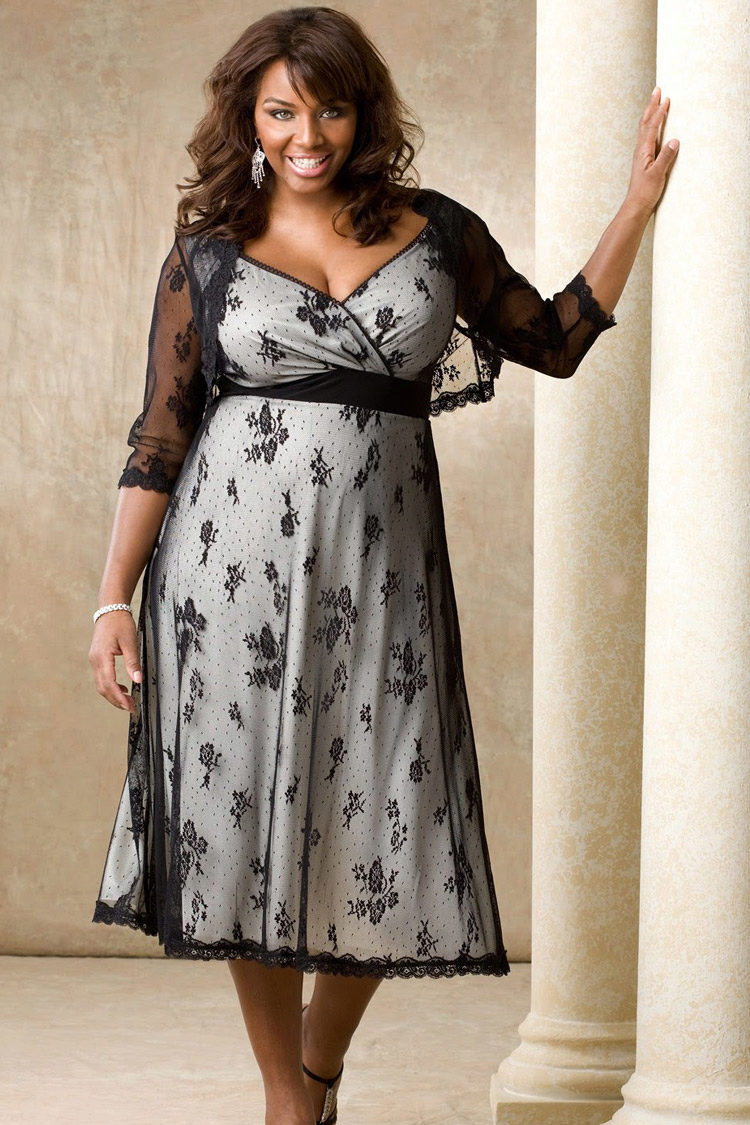 12839809c48 Платье летнее для полных вечернее из кружева с контрастной основой