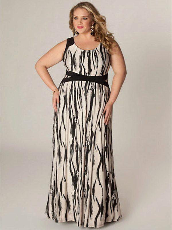 Летнее длинное платье для полных своими руками