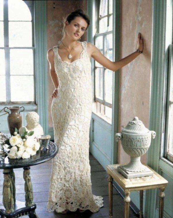 Схемы для свадебных платьев, вязаных крючком, и этапы ...