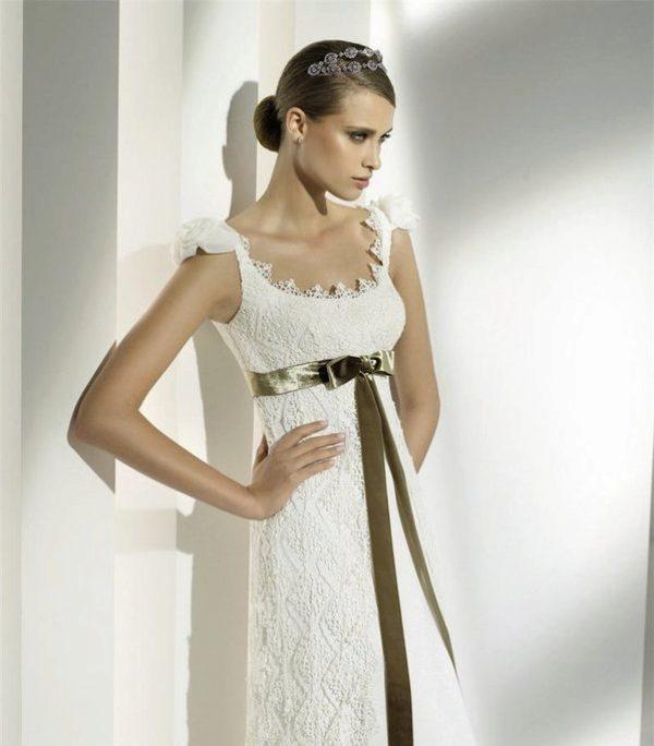 Длинное свадебное платье крючком со схемой ЕЛЕНА 45