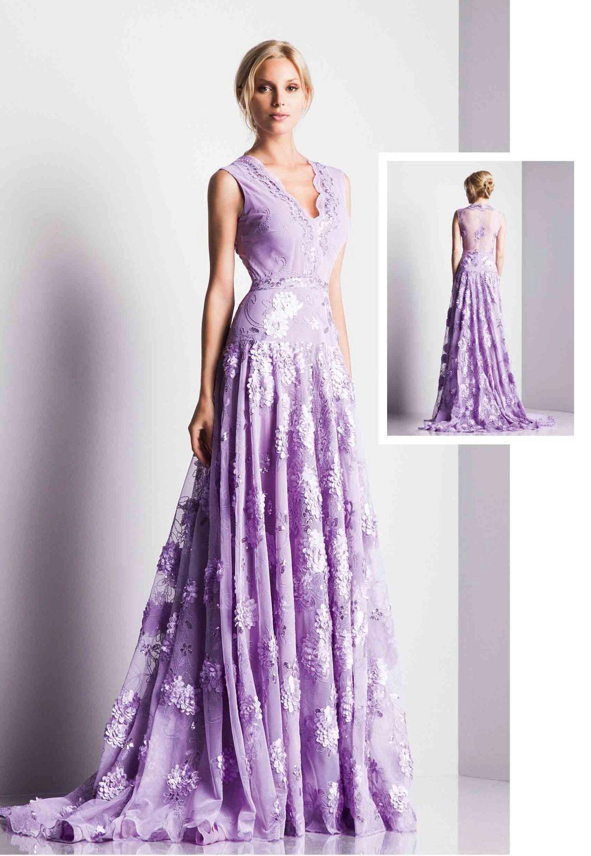 лилового цвета платье фото