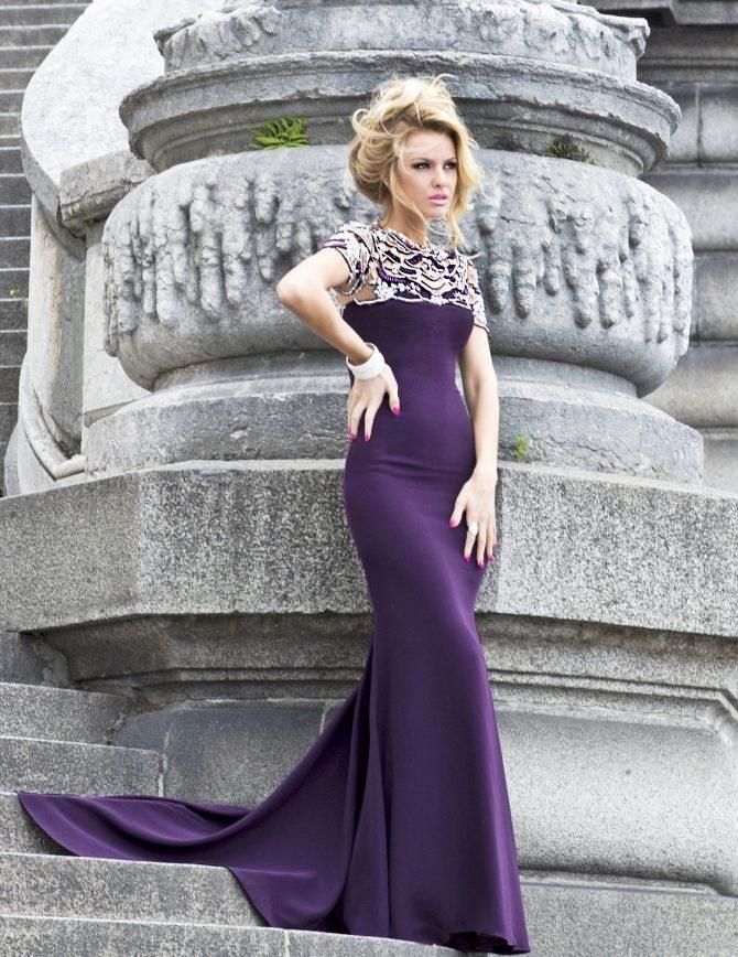 092def93ddd Сиреневые вечерние платья  лучшие фото