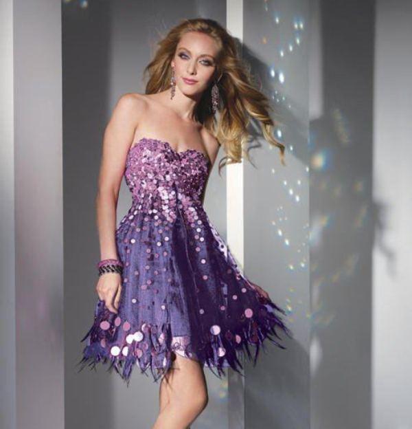 1fa9bdb4b3085 Сиреневые вечерние платья: лучшие фото, особенности, фасоны ...