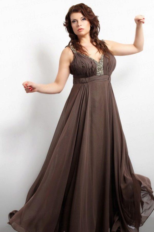 фото коричневые вечерние платья