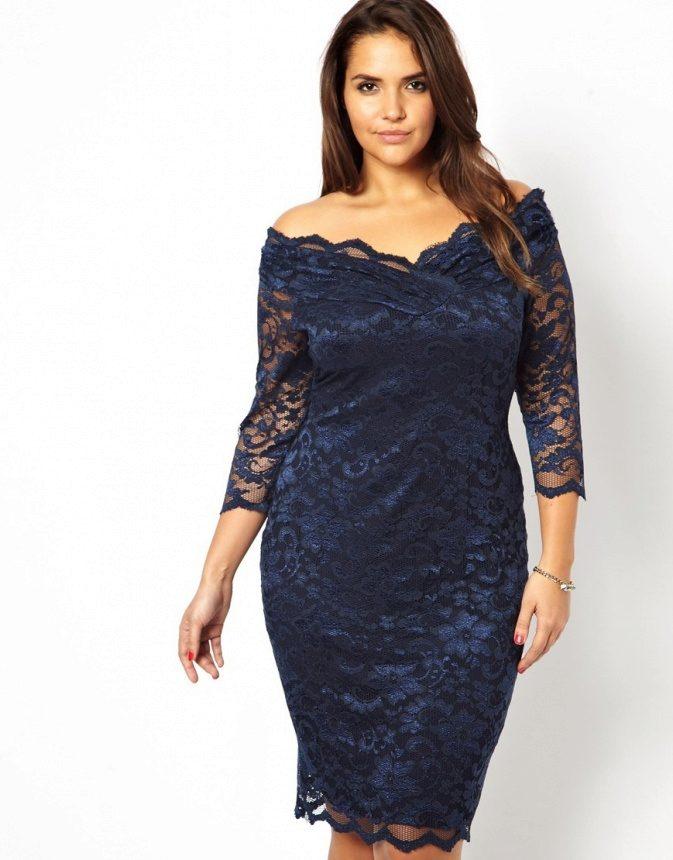 f885afad0959e1a Вечерние платья для полных девушек и женщин: длинные фасоны, с рукавами