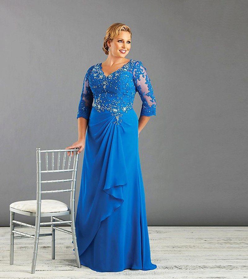 Вечерние платья для свадьбы для полных женщин