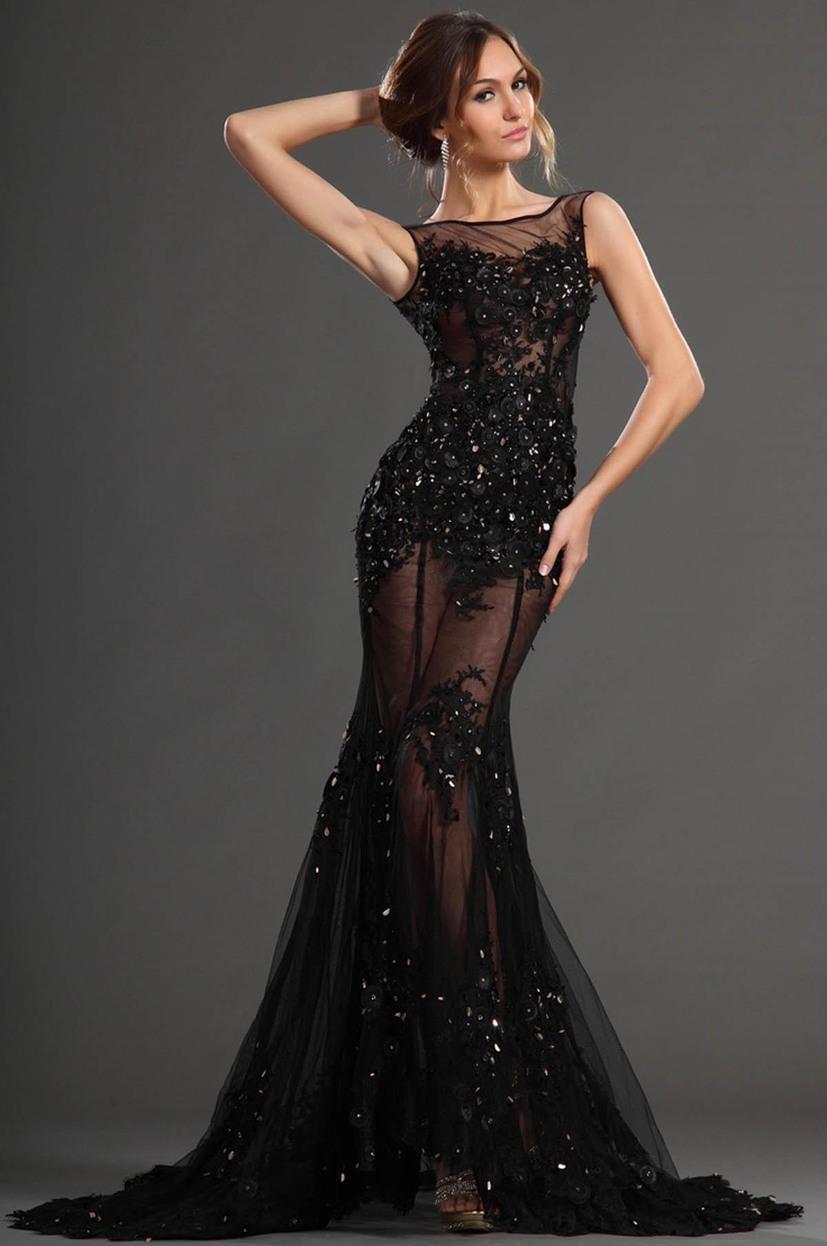 Вечерние платья в стиле рыбка