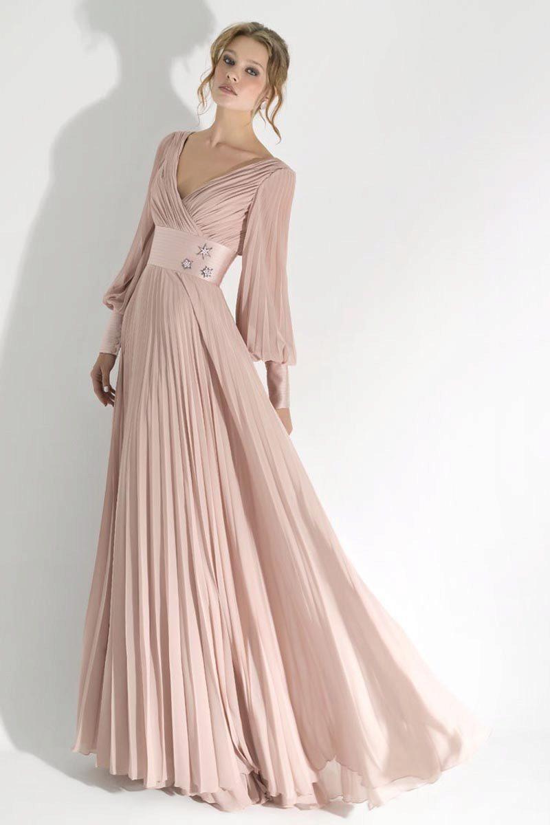 acb8fffa23a Вечерние платья с длинным рукавом  в пол и короткие варианты (42 фото)