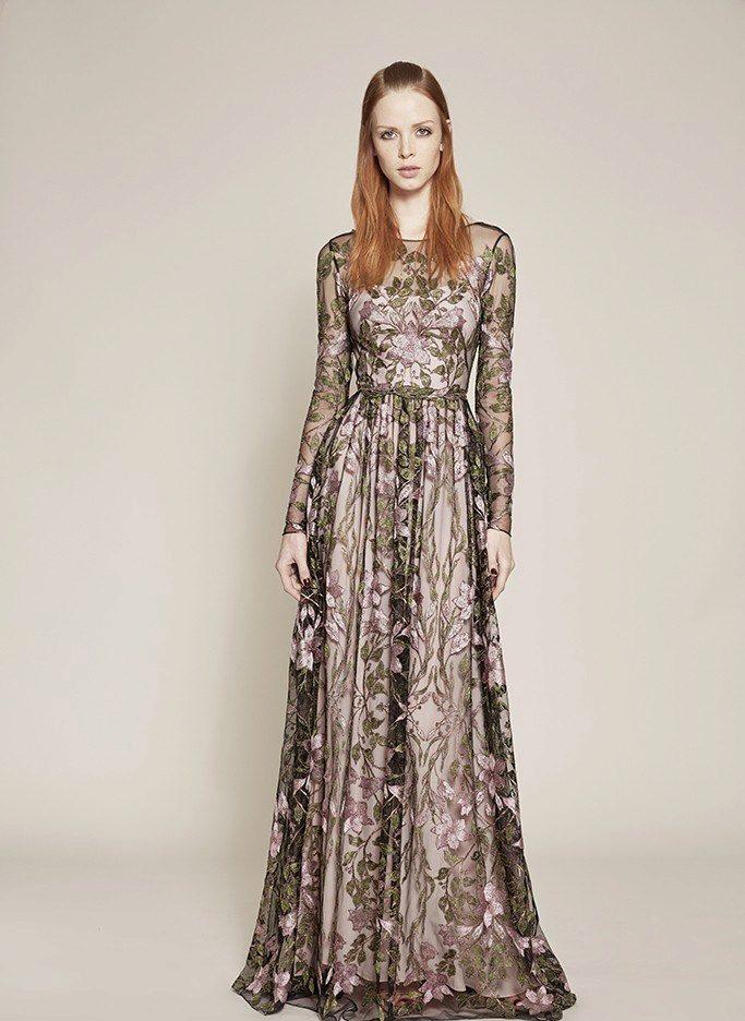 720cc31b0ab6 Вечерние платья с длинными рукавами в пол  фасоны, виды и летние модели