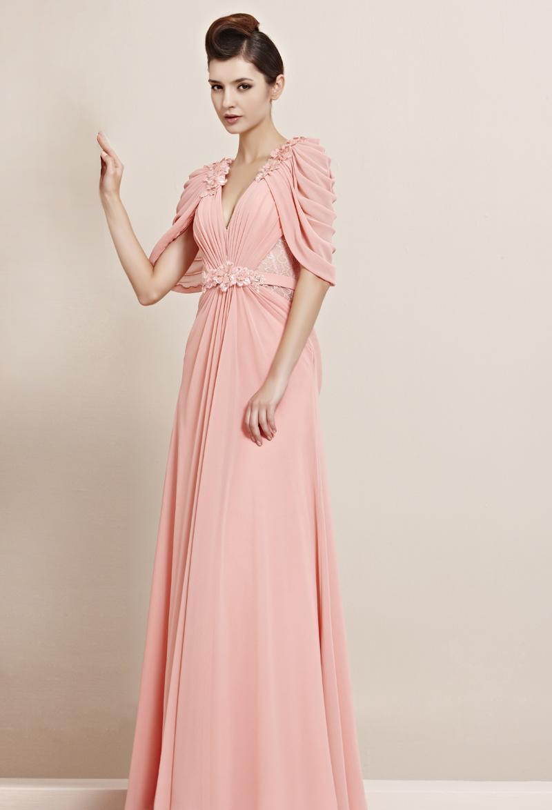 490ac013f2b1067 Вечерние платья с длинными рукавами в пол: фасоны, виды и летние модели