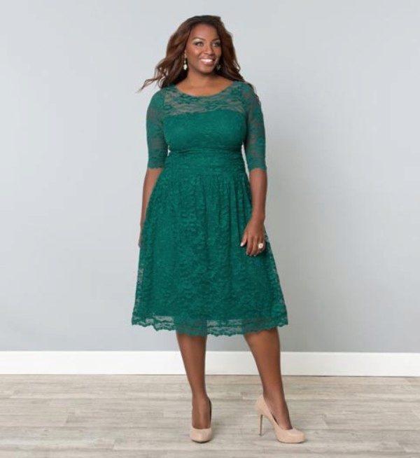 Вечернее зеленое платье короткое