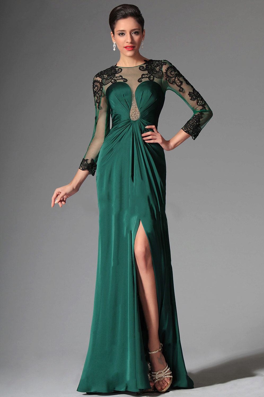 851cad11dd9 Зеленое вечернее платье  темные и светлые оттенки