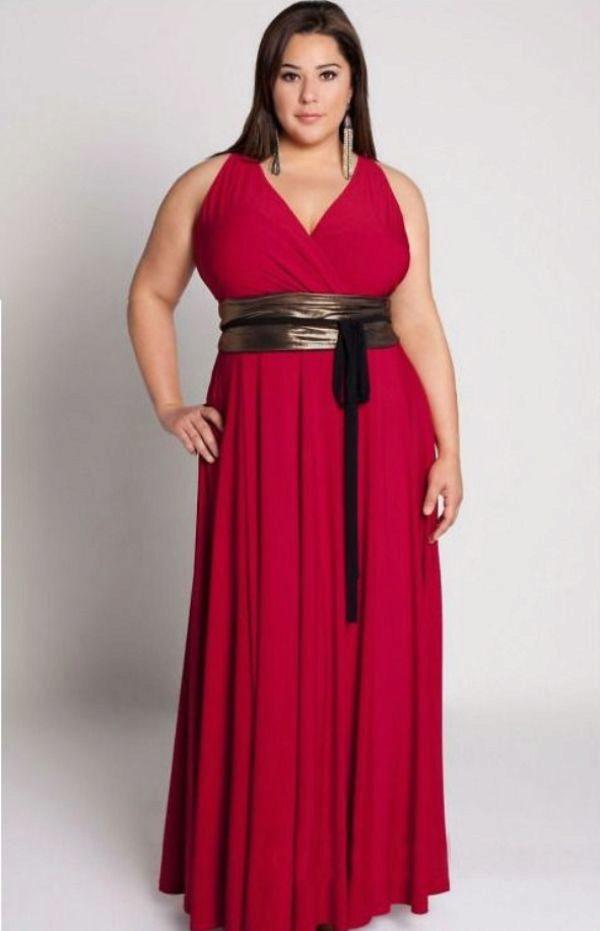 Платье в пол для полных женщин сшить своими руками