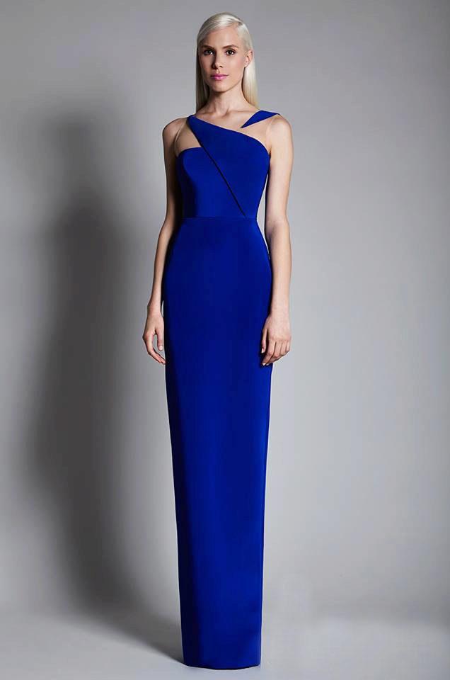 Выпускное платье синее в пол