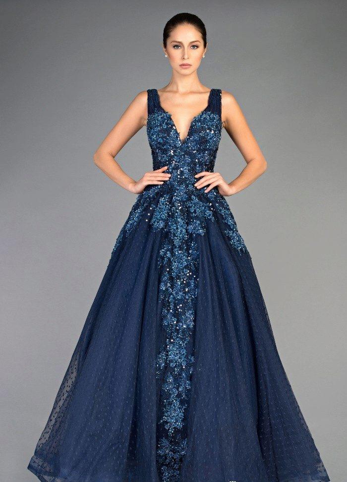Голубое платье рыбка