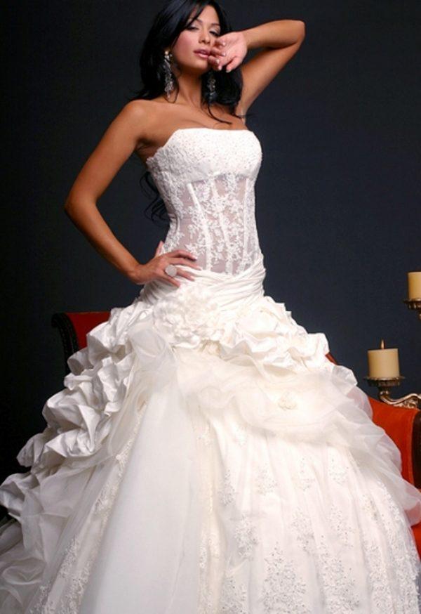 Свадебные платья с корсетом фото