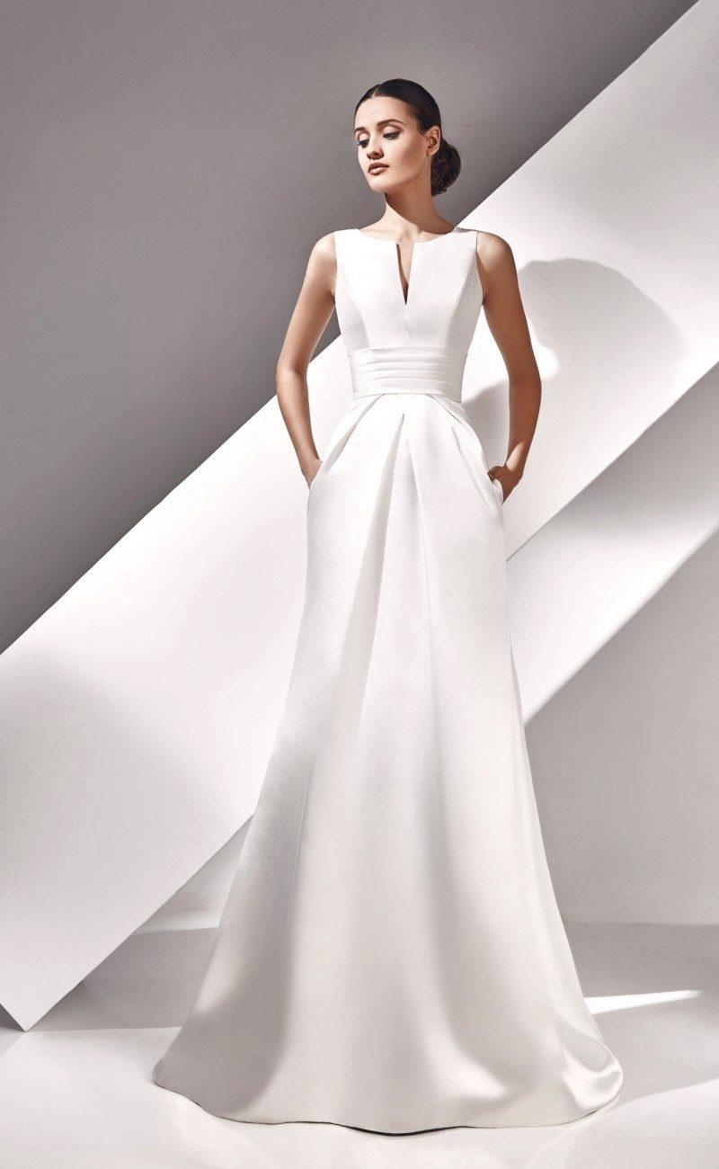 Картинки свадебные платья не пышные