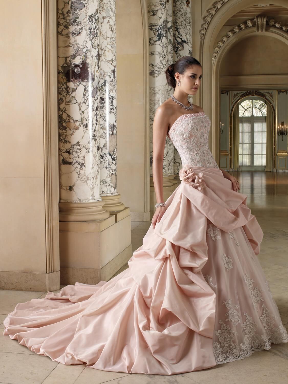 Розовое свадебное платье цена