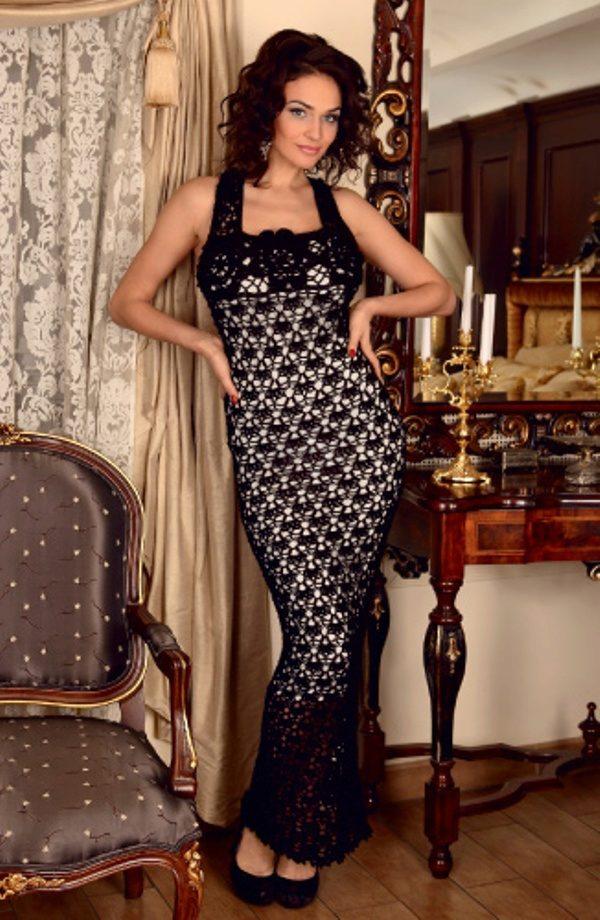 вечернее платье крючком лучшие модели и бренды 54 фото